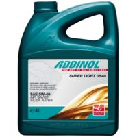 ADDINOL Super Light 0540 5W40 A3/B3/B4 SN/CF/EC  4 Л масло моторное