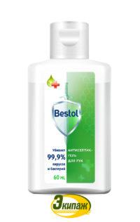 Средство дезинфицирующее (кожный антисептик) Bestol 60мл гель