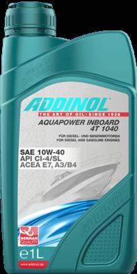 ADDINOL Aquapower Inboard 4T 10w40   E7, A3/B4 CI-4/SL  масло моторное 1л
