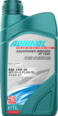 ADDINOL Aquapower Inboard 4T 15w40   E7 CI-4 Plus/SL Volvo VDS-3 масло моторное 1л