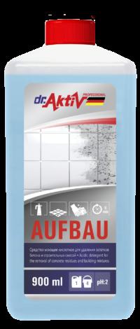 Dr.Aktiv Средство моющее кислотное для удаления остатков бетона и строительных смесей Aufbau 900мл